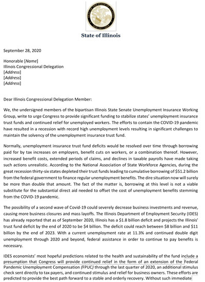 Joint GA letter to IL congressional delegation